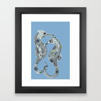 Two Seahorses Framed Art Print