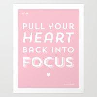 Focus. Art Print