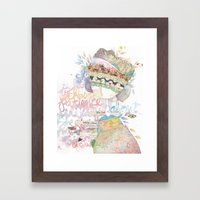 wildly about. Framed Art Print