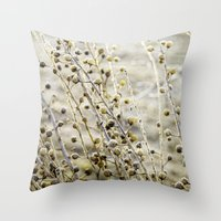 Frosted Weeds Throw Pillow