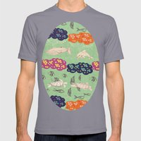 Coral  Mens Fitted Tee Slate SMALL