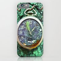iPhone & iPod Case featuring Green Time by mark jones