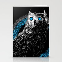 Midnight Owl - Teal Stationery Cards
