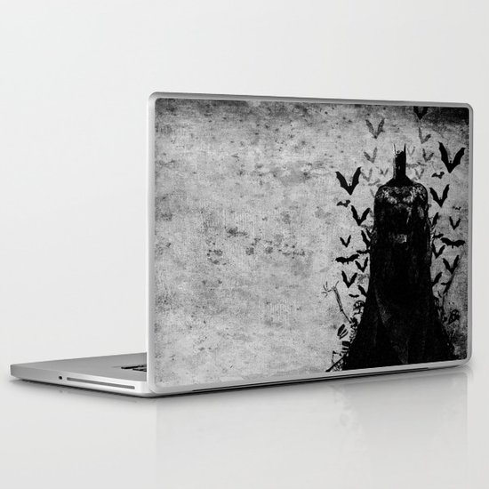 The night rises B&W Laptop & iPad Skin
