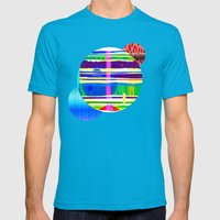 Rice Paper Rap Mens Fitted Tee Teal SMALL