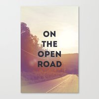 on the open road. Canvas Print