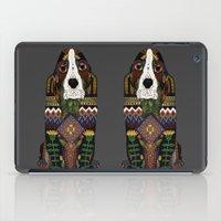 Basset Hound pewter iPad Case