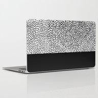 Dots And Black Laptop & iPad Skin