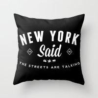 New York Said Throw Pillow