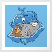 The Blue Whale In The Ro… Art Print