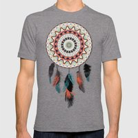 Mandala Dream Catcher Mens Fitted Tee Tri-Grey SMALL