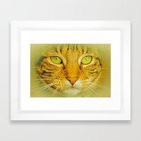 SPARKLE CAT Framed Art Print