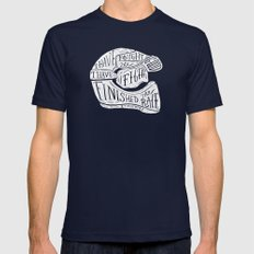 I Have Fought The Good F… Mens Fitted Tee Navy SMALL
