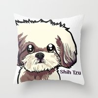 Alice (Shih Tzu) Throw Pillow