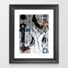 Lski Anchor Framed Art Print