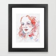 Framed Art Print featuring Selfportrait 2015 by Jane-Beata