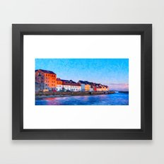 End Of A Beautiful Day In Galway Ireland On The Seaside Framed Art Print