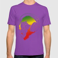 Jamin' Chimpanzie  Mens Fitted Tee Ultraviolet SMALL