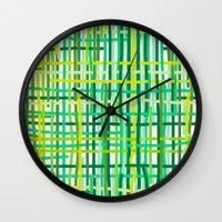 Springtime Woven. Wall Clock