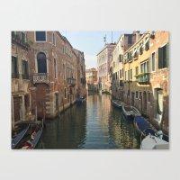Venetian Waterway Canvas Print