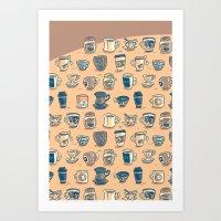 Coffee & Tea & Butts Art Print