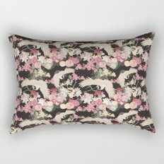 Japanese garden with cranes Rectangular Pillow
