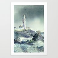 Art Print featuring Pigeon Point Lighthouse by Sheltered Spirits