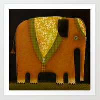 ELEPHANT ATTIRE Art Print