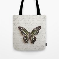 Graphium agamemnon butterfly Tote Bag