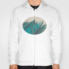 Turquoise Feather Abstra… Hoody