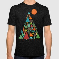 The house at the pine forest Mens Fitted Tee Tri-Black SMALL