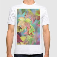 Colorful fall Mens Fitted Tee Ash Grey SMALL