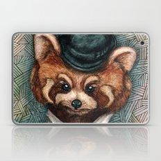Cute Red Panda in Bowler hat Laptop & iPad Skin
