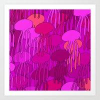 Jellyfish Pink Art Print