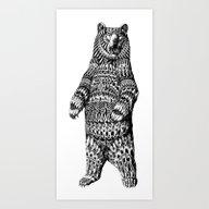 Ornate Grizzly Bear Art Print