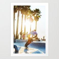 Venice Beach Skate Park 2 Art Print