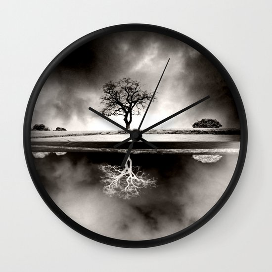 SOLITARY REFLECTION Wall Clock