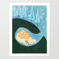 Art Print featuring Hibernating Together by Diana Toledano
