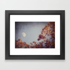 October Moon Framed Art Print