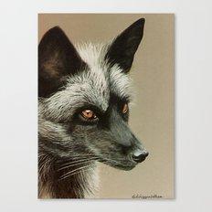 Silver Fox painting Canvas Print