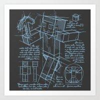 Plan Mine Art Print