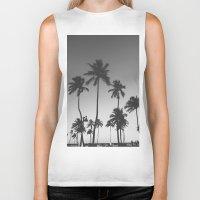 Palm Trees II Biker Tank