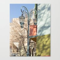 Street Lights of La Boca II Canvas Print
