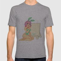 Artist Bunny Mens Fitted Tee Athletic Grey SMALL