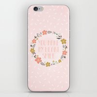 You Make My Heart Smile iPhone & iPod Skin