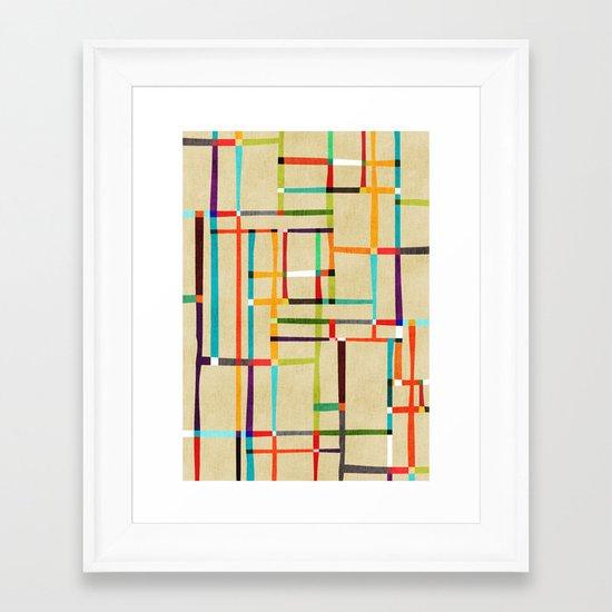 The map (after Mondrian) Framed Art Print