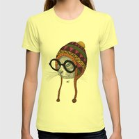 Foolishness Is In The Ey… Womens Fitted Tee Lemon SMALL