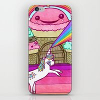 Unicorn And Ice Cream Ki… iPhone & iPod Skin