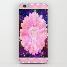 Pink flower with sparkles  iPhone & iPod Skin