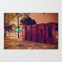 London Night Life  Canvas Print